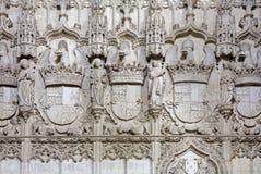 Toledo - Detail of gothic interior of Monasterio San Juan de los Reyes Stock Photos