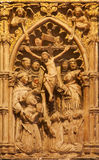 Toledo - Detail from portal of Gothic atrium of Monasterio San Juan de los Reyes Royalty Free Stock Image