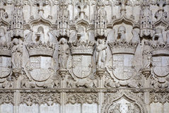 Toledo - dettaglio dell'interno gotico di Monasterio San Juan de los Reyes Fotografie Stock