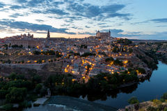 Toledo at dusk Spain Royalty Free Stock Image