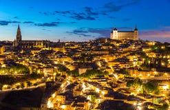 Toledo at dusk Spain Royalty Free Stock Photography
