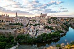 Toledo at dusk Spain Stock Images