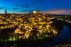 Toledo at dusk Spain Royalty Free Stock Images