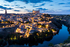 Toledo at dusk Spain Royalty Free Stock Photography