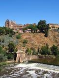 Toledo flod Targus Royaltyfria Foton