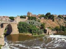 Toledo flod Targus royaltyfri foto