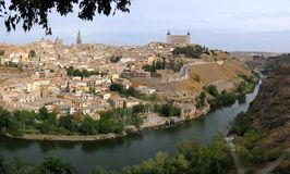 Toledo. Grande panorama. Immagini Stock
