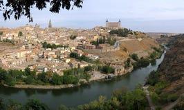 Toledo. Groot panorama. stock afbeeldingen