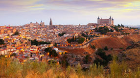 Toledo from hill in summer morning Stock Image
