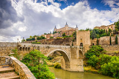 Toledo Hiszpania na rzece Zdjęcie Royalty Free