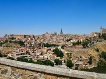 Toledo the hole city, a very natural picture with free space Sp royalty free stock photos