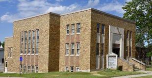 Toledo, Iowa kościół zdjęcia stock