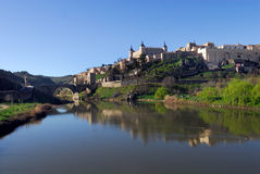Toledo IV. View of the city of Toledo, Spain, and the Tajo river Stock Images