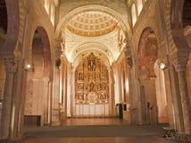 Toledo - navata ed altare della chiesa romana di San Fotografie Stock Libere da Diritti