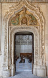 Toledo - Look to Gothic atrium  over the portal in Monasterio San Juan de los Reyes Royalty Free Stock Photo