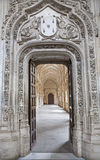 Toledo - Look to Gothic atrium  over the portal in Monasterio San Juan de los Reyes Stock Images