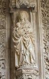 Toledo - Madonna from atrium of Monasterio San Juan de los Reyes Stock Photo