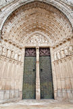 Toledo - Main gothic portal of Cathedral Stock Photo