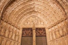 Toledo - Main gothic portal of Cathedral Primada Santa Maria de Toledo Royalty Free Stock Image