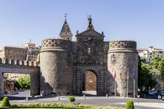 Toledo miasta wejściowy drzwi obraz stock