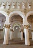 Toledo - Mudejar archs from Synagogue Santa Maria la Blanca. Stock Image