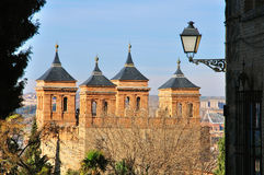 Toledo mudejar towers Royalty Free Stock Images
