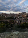 Toledo nuvolosa Fotografie Stock