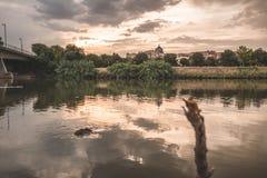 Toledo och flod arkivbild
