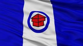 Toledo Ohio City Flag USA, Closeupsikt Royaltyfri Illustrationer