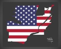 Toledo Ohio map with American national flag illustration vector illustration