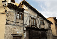 Toledo Old House. Very old house in the historical city centre of Toledo, Spain Royalty Free Stock Photos