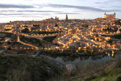 Toledo. The old spanish city Toledo. an evening view Stock Images