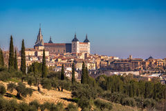 Toledo old town city in Spain Royalty Free Stock Images