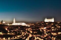 Toledo old town skyline stock photo