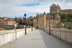 Toledo - Outlook form San Martin s bride Stock Photos