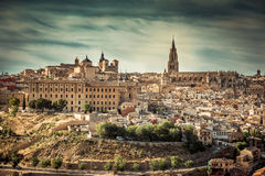 Toledo over sunset Royalty Free Stock Photography