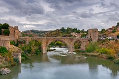 toledo Ponte di Alcantara Fotografie Stock Libere da Diritti
