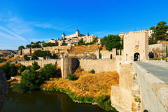 Toledo from Puente of Alcantara Royalty Free Stock Photography