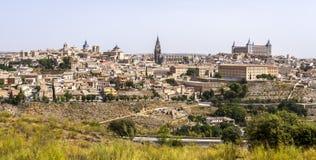 Toledo with river Tajo Royalty Free Stock Photos