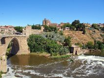 Toledo, Rivier Targus Royalty-vrije Stock Foto