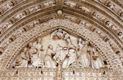 Toledo - Side gothic portal of Cathedral Primada Santa Maria de Toledo Royalty Free Stock Photo