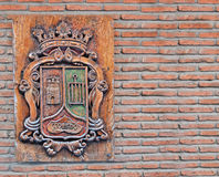 Toledo. Sign on a brick wall Royalty Free Stock Photos
