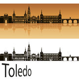 Toledo skyline in orange Royalty Free Stock Images