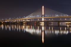 Toledo Skyway Bridge. A nighttime image of the Veterans Glass City Skyway Bridge Royalty Free Stock Photography