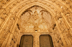 Toledo - South gothic portal of Cathedral Royalty Free Stock Image