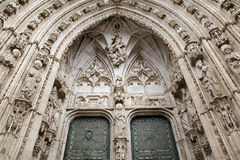 Toledo - South gothic portal of Cathedral Primada Santa Maria de Toledo Stock Photo