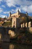 Toledo in Spain. The Alcazar in Toledo, Spain Royalty Free Stock Images