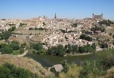 Toledo in spain. An Aeriel view of Toledo in Spain Stock Photography
