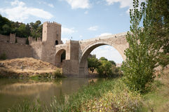 Toledo, Spain. The village gate and bridge into Toledo, Spain Royalty Free Stock Photos
