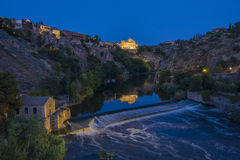 Toledo - Spain. The River Tagus in the city of Toledo in the La Mancha region of central Spain Royalty Free Stock Photos